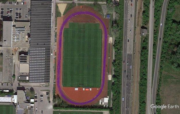 Suunto 9 Baro on 400 m Track