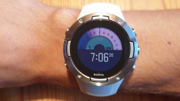 Suunto 5, New Outdoor Watchface, First Screen, Backlight Active