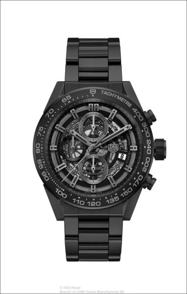 TAG Heuer > CARRERA HEUER 01 - Full Black Matt Ceramic