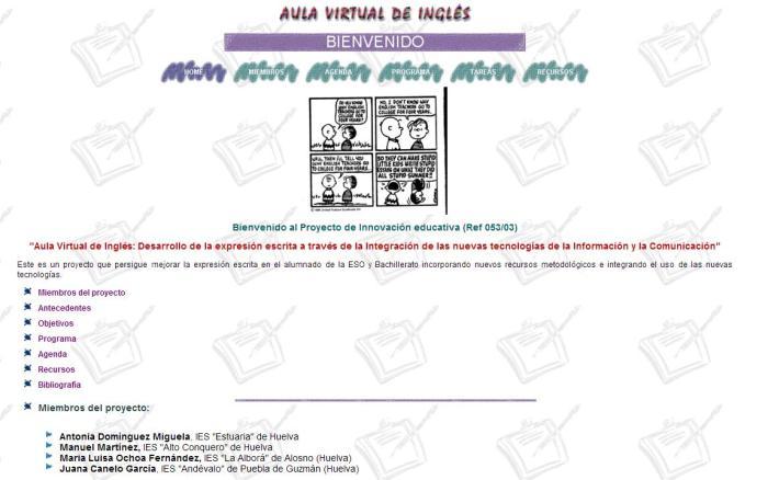 Aula virtual de inglés