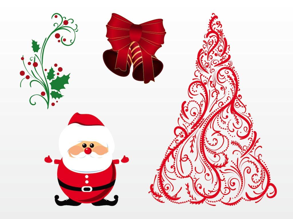 bow merry christmas cards vector 01