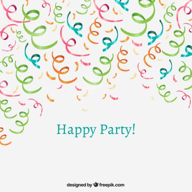 party confetti free vector