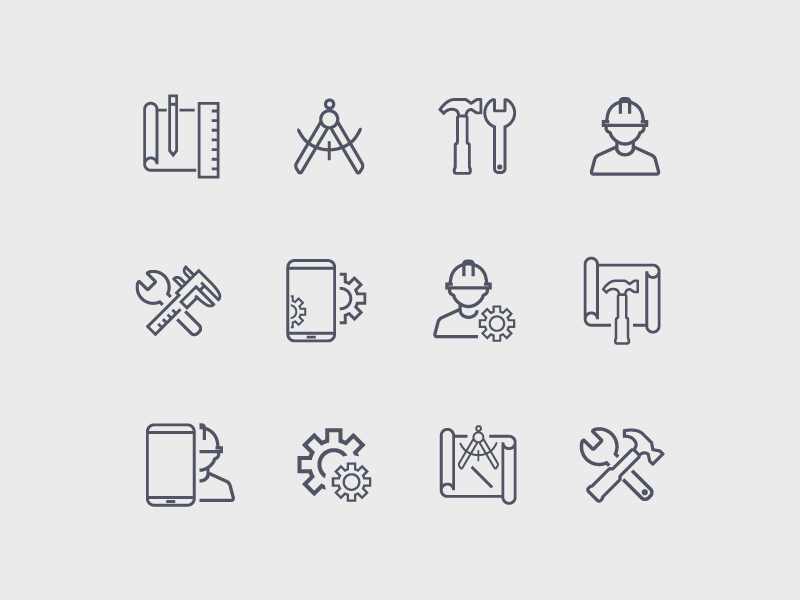 Work Icon Pack / Work icon programing software computer