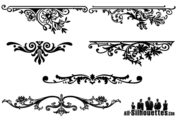 vector floral ornaments graphic