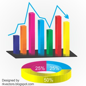 vector business graph rounded