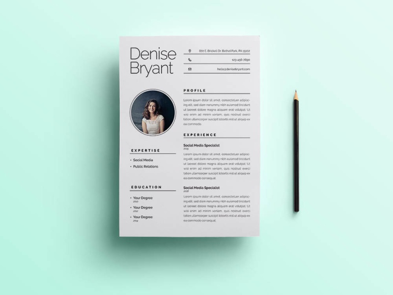 Using this resume template to create a modern and professional cv that tells your story and increases your chances to get that interview you've been waiting for. Free Minimalist Resume Template Free Psd Ui Download