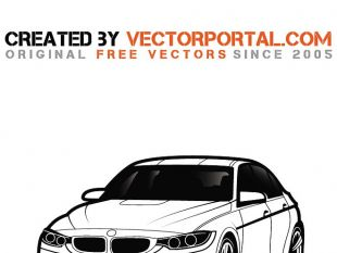 bmw car vector graphics