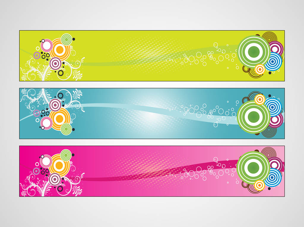 colorful banners designs free