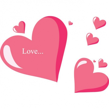 Download Free vector beautiful set of pink love heart | free ...