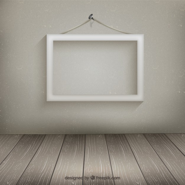 white frame hanging on