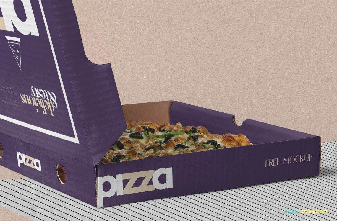 Download Free Pizza Box Mockup PSD | free psd | UI Download