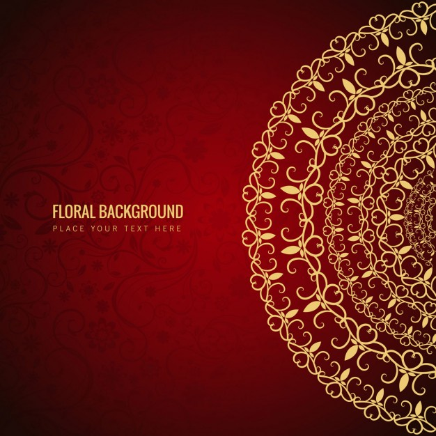 Red Floral Background Free Vectors UI Download