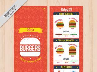 Food Menu Template | free vectors | UI Download