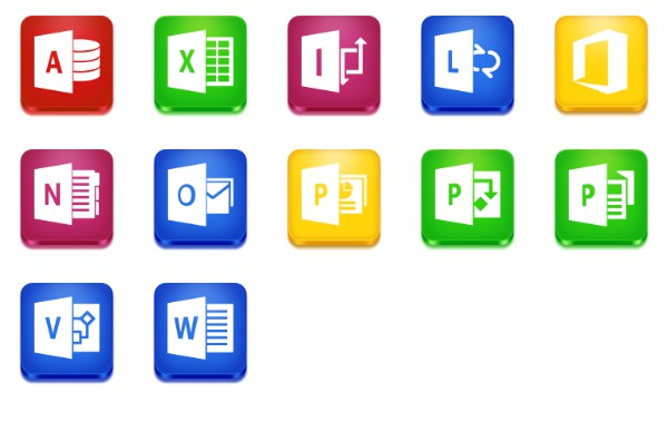 Microsoft Office 2013 Icons free icon packs UI Download