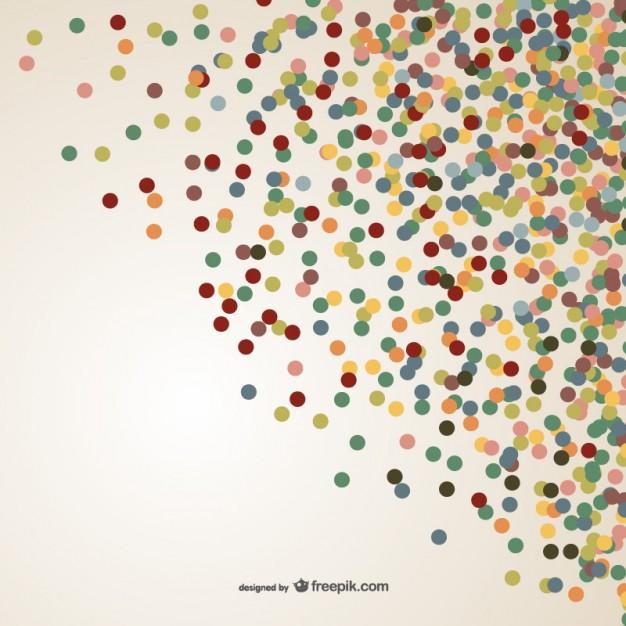 colorful confetti vector free