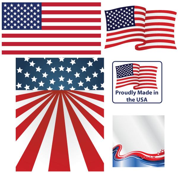 Download American Flag Vector | free vectors | UI Download