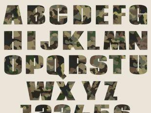 Download Camouflage Font Vector Pack   free vectors   UI Download