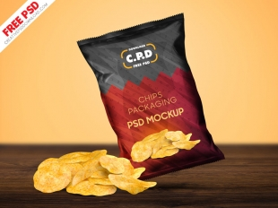 Download Potato Chips Bag Mockup Free Yellow Images