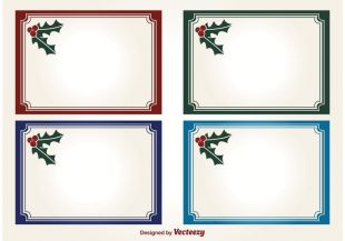 decorative blank christmas label