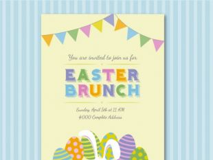 free easter lunch invitation template : Cogimbo.us