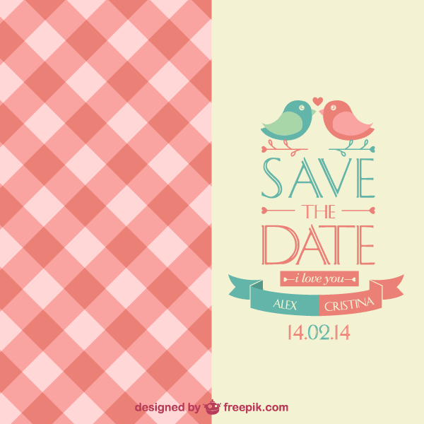 Save The Date Wedding Invitation Card Template Thumb