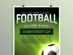 Football brochure template | free vectors | UI Download