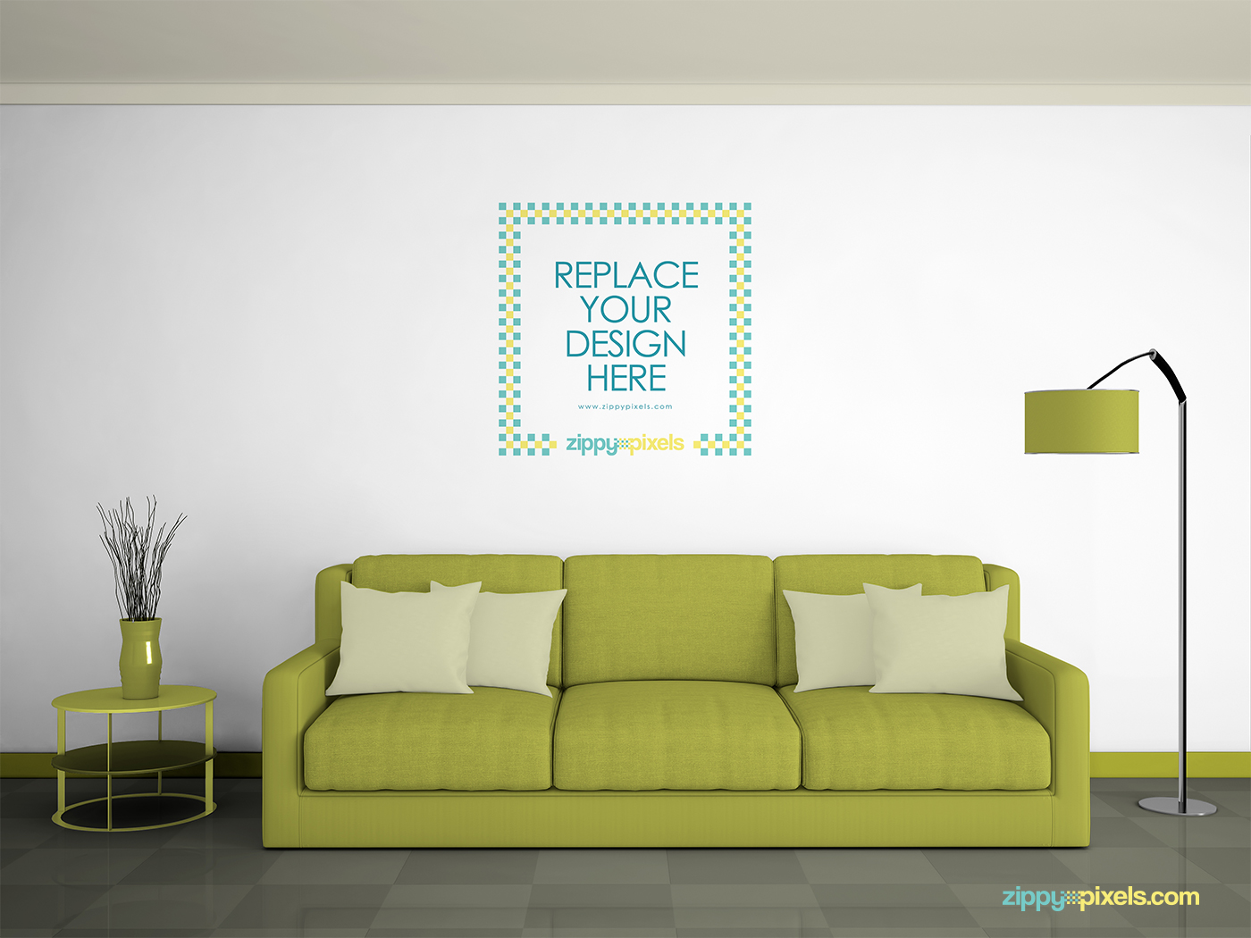 Sublime Free Wall Mockup PSD  free psd  UI Download