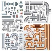 Steel iron pipe vector | free vectors | UI Download