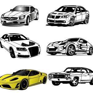 10 cars vector set