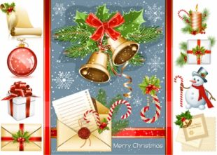 Christmas Decoration Elements Psd