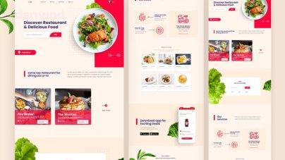 Eatiz Restaurant Landing Page- uifreebies.net