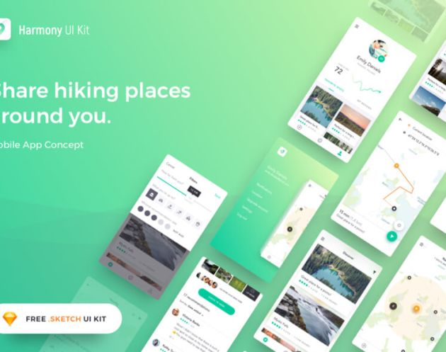 Harmony UI Kit - uifreebies.net