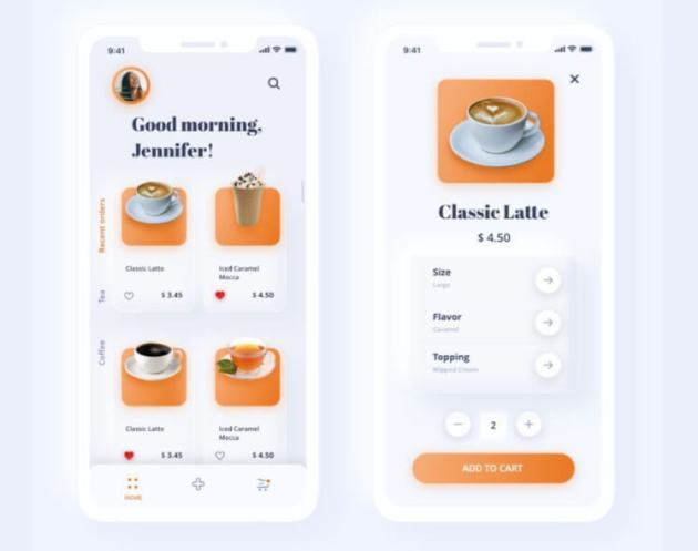 Coffee Neomorphic App Free