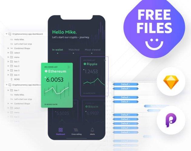 Cryptocurrency App Dashboard- uifreebies.net