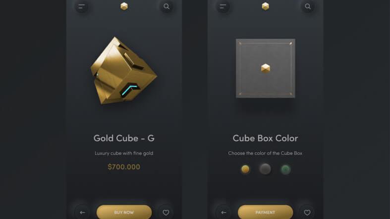 Freebies Cube Store App- uifreebies.net