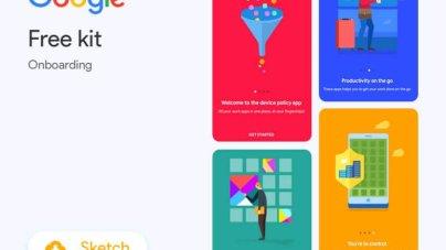 Google Onboarding App- uifreebies.net