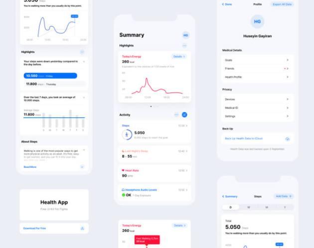 Health App UI Kit Free