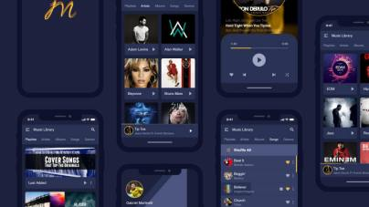 Music Application UI Kit - uifreebies.net