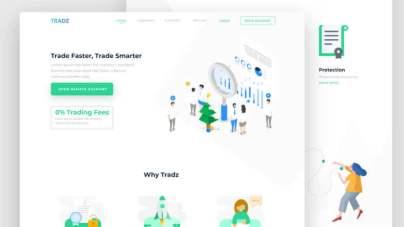 Digital Currency Trading Landing Page- uifreebies.net