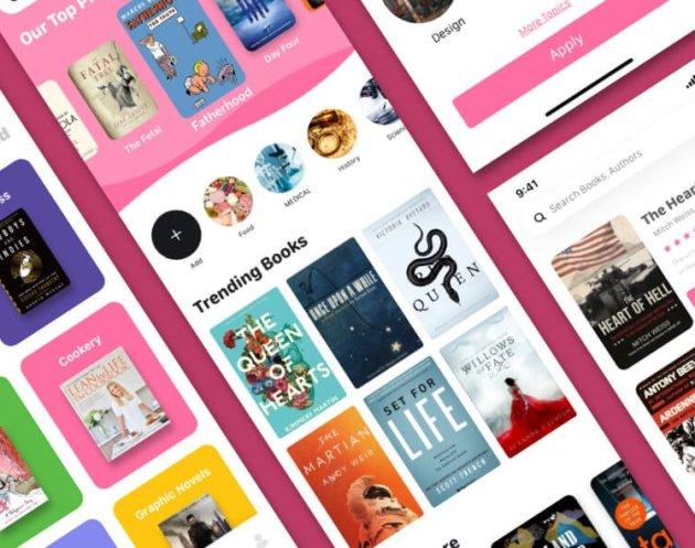 Bookshare App Design- uifreebies.net