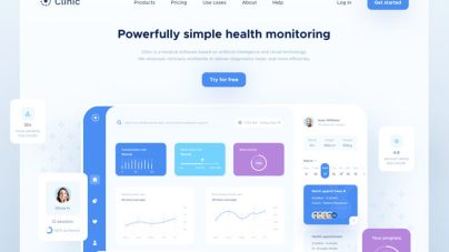 Clinic Dashboard UI - uifreebies.net