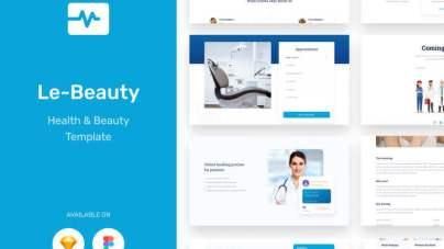 Lebeauty Medical & Health UI KIT- uifreebies.net