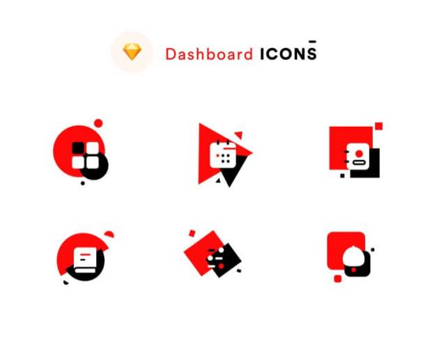 Dashboard Icons Light - uifreebies.net