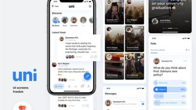 Uni-Social Media App- uifreebies.net