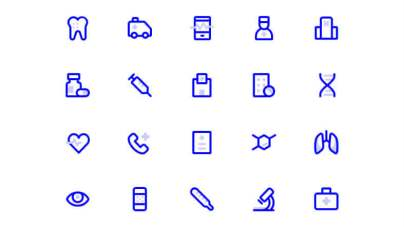 24 Medical Icons Free