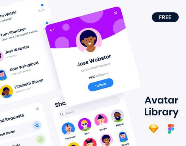 Avatar Library- uifreebies.net