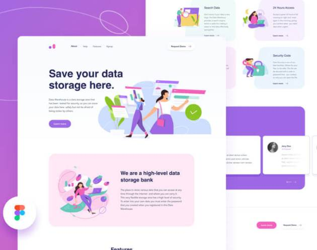 Data Warehouse Web Design - uifreebies.net