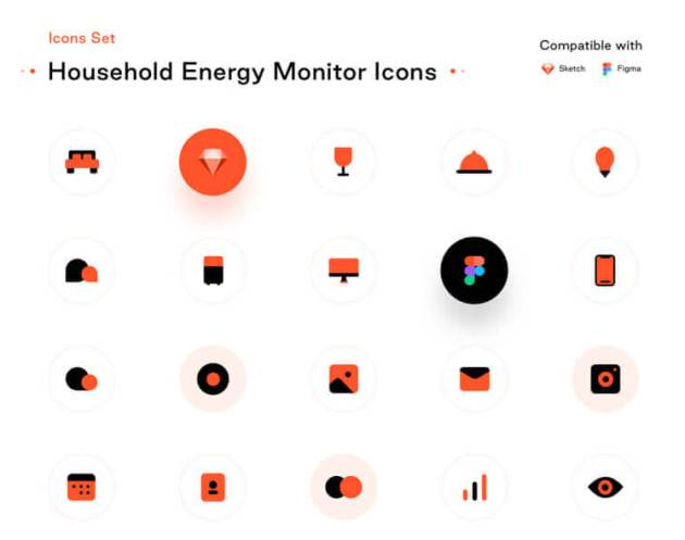 Household Energy Monitor Icons - uifreebies.net