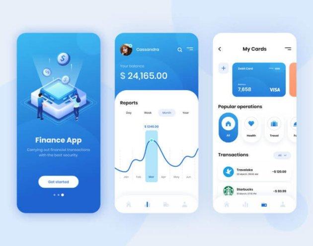 Finance App Design- uifreebies.net