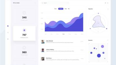 Marketing Dashboard Design - uifreebies.net